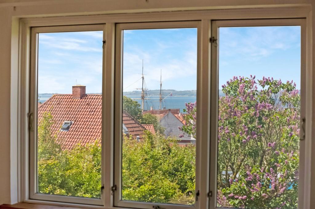 Panoramaudsigt fra stuen til fregatten Jylland